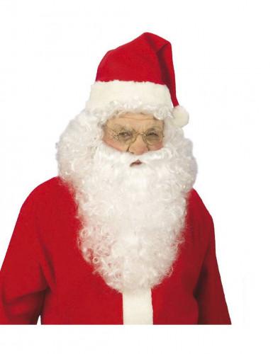 Lunettes dorées Père Noël adulte-1