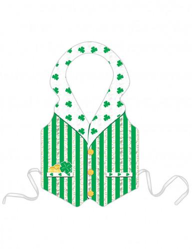 Tablier plastique Leprechaun vert adulte Saint-Patrick