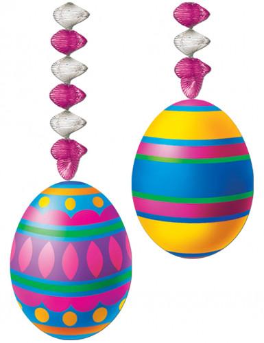 2 Décorations à suspendre accordéon œufs de Pâques