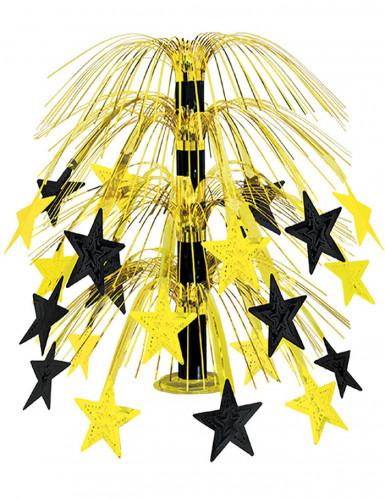 Centre de table étoiles noires et dorées 45,7 cm