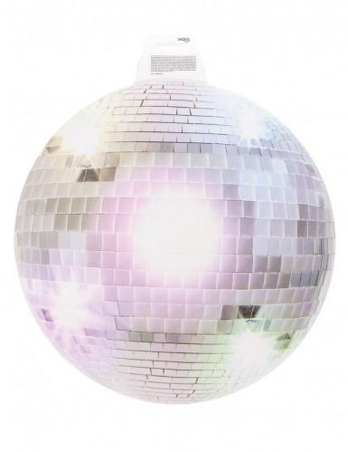 Décoration murale boule disco argentée 34 cm-1