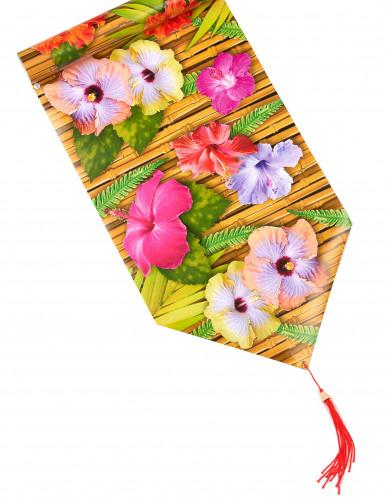 Chemin de table fleur d'hibiscus Hawaï 1,8 m
