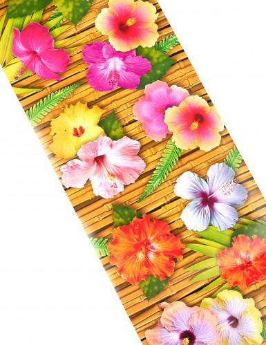 Chemin de table fleur d'hibiscus Hawaï 1,8 m-1