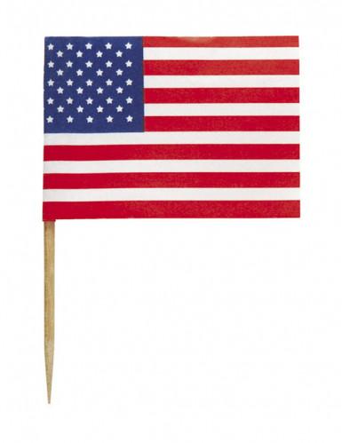 30 Pics drapeaux USA 6 cm-1
