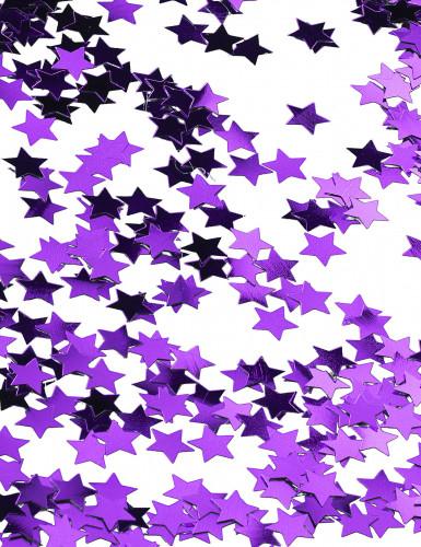 Confettis étoiles métallisés violet