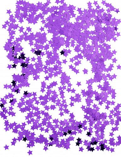Confettis étoiles métallisés violet-1