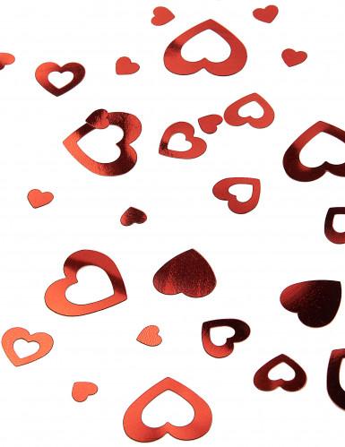 Confettis coeurs rouges 14 g