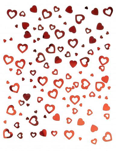 Confettis coeurs rouges 14 g-1