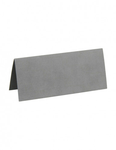10 Marque-places rectangulaires argentés 3 x 7 cm