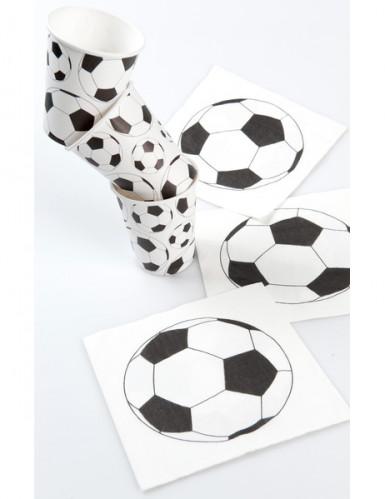 10 Gobelets en cartons ballon football 200 ml-1