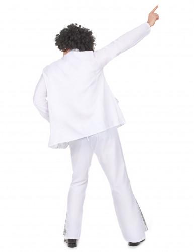 Déguisement disco homme blanc et argent-2