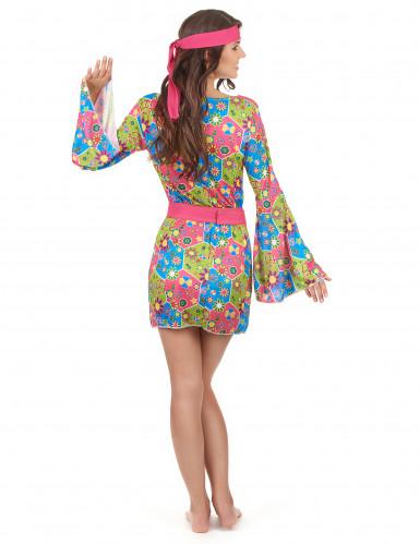 Déguisement hippie femme à fleurs-2