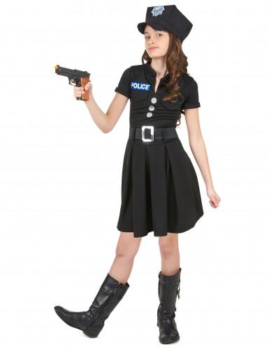 Déguisement policière robe noire fille-1