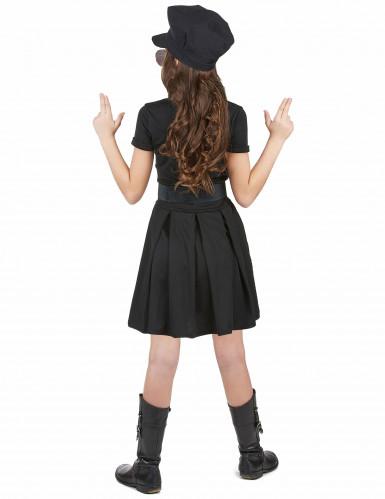 Déguisement policière robe noire fille-2
