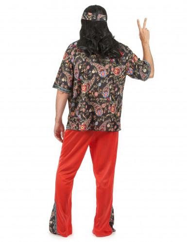 Déguisement hippie rouge homme-2