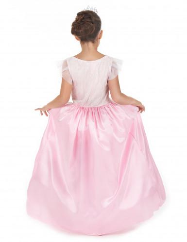 Déguisement princesse fille rose et blanc-2