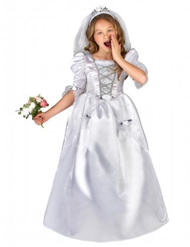 Déguisement mariée fille avec voile