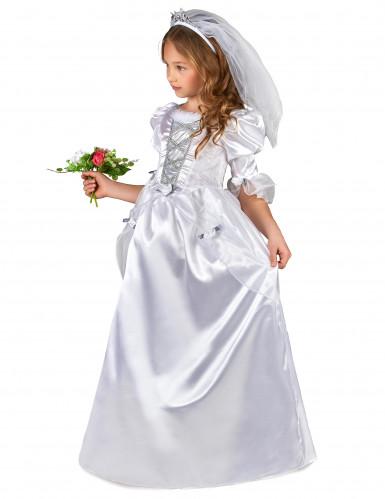 Déguisement mariée fille avec voile-1