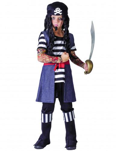 Déguisement pirate tatoué garçon