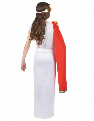 Déguisement déesse romaine à drapé rouge fille-2