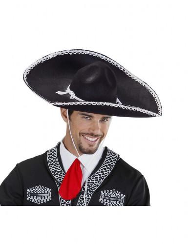 Sombrero noir mexicain adulte-1