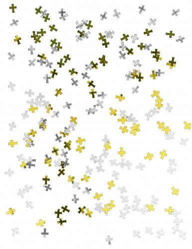 Confettis croix argent et or-1