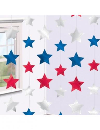 6 Décorations étoiles à suspendre USA