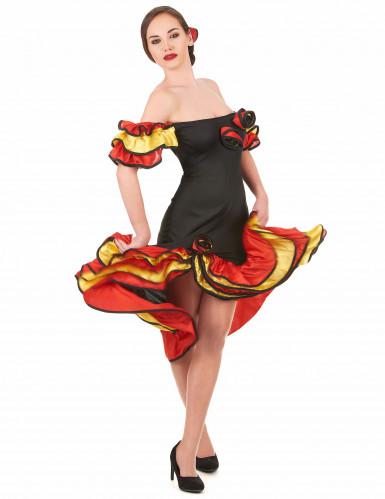 Déguisement couple danseuse flamenco mère et fille-1