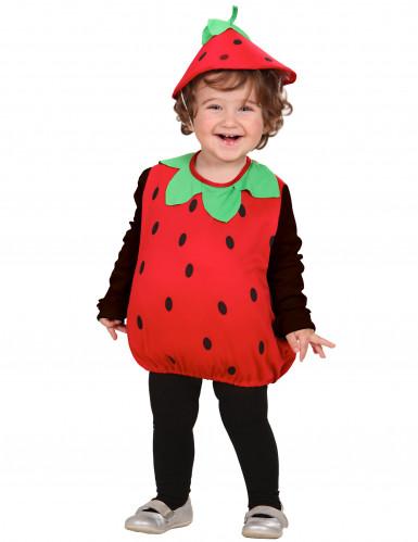 Déguisement fraise combinaison fille