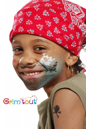 Pochoir de maquillage réutilisable chevalier et pirate Grim'Tout®-1