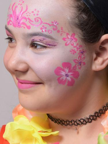 Pochoir de maquillage réutilisable Fleurs Grim Tout-2