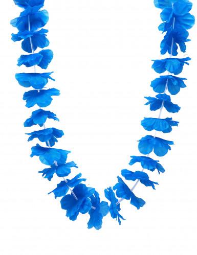Collier hawaï bleu vif