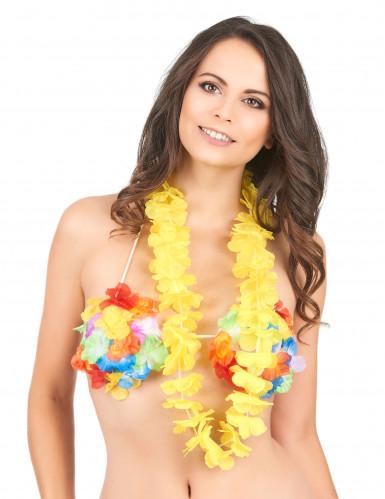 Collier hawaï jaune-1