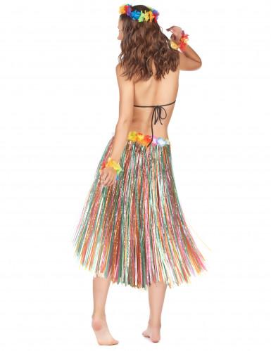 Jupe longue multicolore Hawaï femme-1