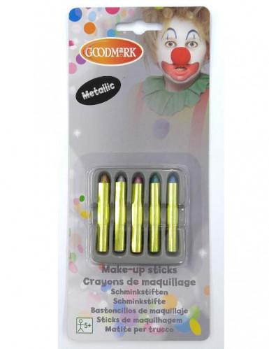 5 Crayons maquillage scintillants