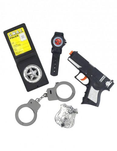 Kit complet policier enfant en plastique