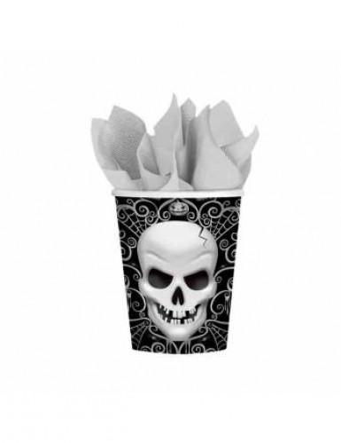8 Gobelets carton Tête De Mort Halloween