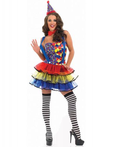 Déguisement clown sexy femme
