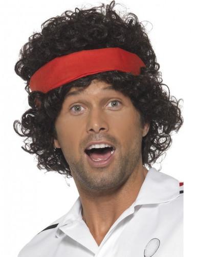 Perruque marron joueur de tennis homme