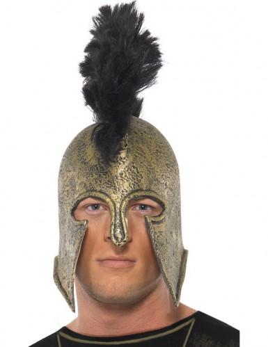 Casque romain avec crête noire adulte