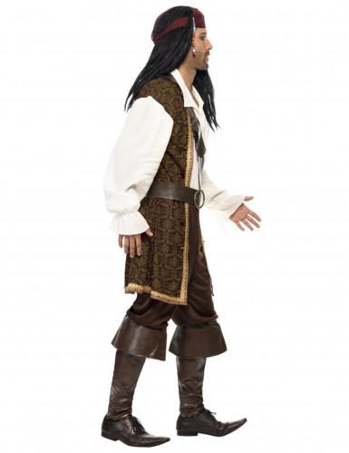 Déguisement pirate marron homme-1
