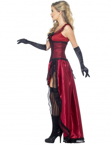 Déguisement danseuse saloon sexy rouge femme-1