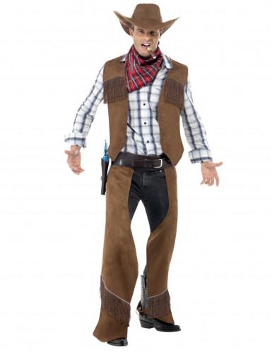 Déguisement cowboy à franges homme