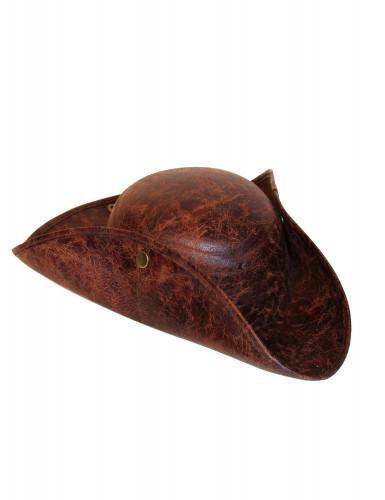 Chapeau pirate marron effet cuir adulte