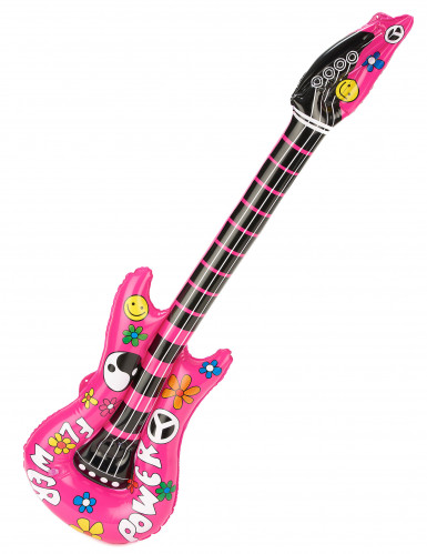 Guitare gonflable rose