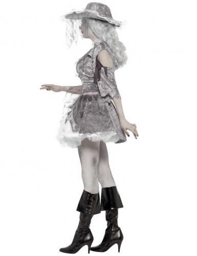 Déguisement fantôme pirate effet satiné femme Halloween-1