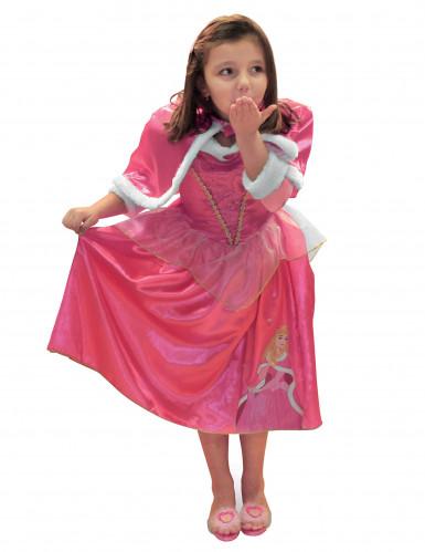 Déguisement princesse de l'hiver Aurore™ avec cape fille