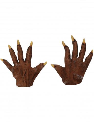 Mains loup garou adulte halloween