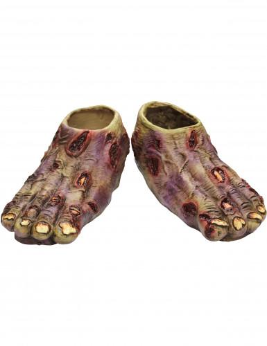 Pieds zombie adulte Halloween