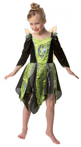 Déguisement Fée clochette™ noir et vert fille